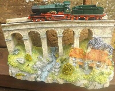 "Danbury Mint Collection ""STEAMING INTO HISTORY"" Railway Diorama"