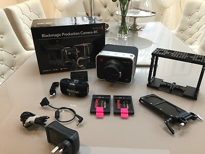 Blackmagic Production Camera 4K with EF Mount + Wooden Camera Cage + Extras