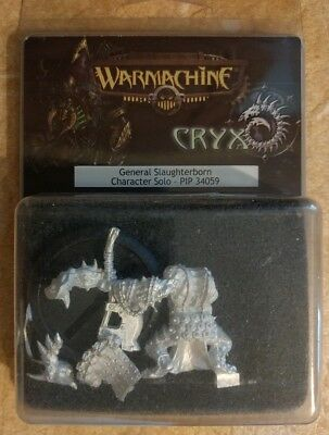 Warmachine General Slaughterborn Character Solo PIP34059 New