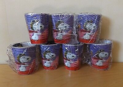 Lot of 7 matching SNOOPY beakers 3D flying ace - new sealed unused.