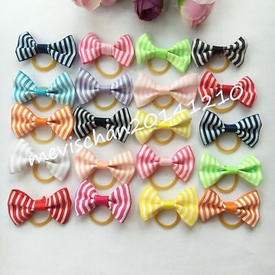 50PCS/lot Pet Dogs Hair Bows rope rubber bands Accessories puppy Grooming rope