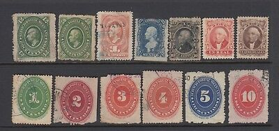 Mexico 1864 Onwards Stamp Selection Used Hinged No Gum (#1933)