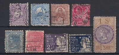 New South Wales 1888-1892 Stamp Selection Used Hinged No Gum (#1932)