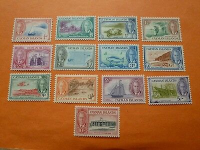 Cayman Islands 1950 SG135/147 (set of 13)  Mounted Mint