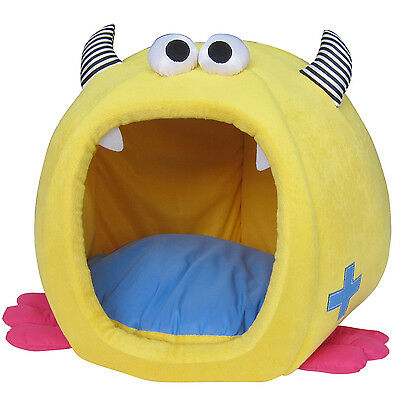 Cat Small Dog Igloo Cave Bed Large Monster Design Cushioned Warm
