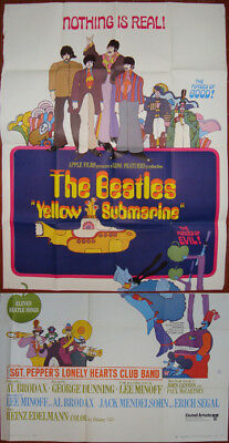Yellow Submarine-The Beatles-G.Dunning-Cool Psychedelic-3sh (41x81 inch)