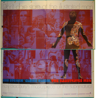 The Illustrated Man-Sci Fi-Ray Bradbury-Rod Steiger-6sh Foreign (81x81 inch)