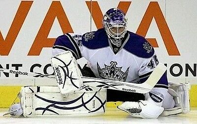 Game worn Jonathan Bernier LA Kings blocker NHL  Colorado Avalanche