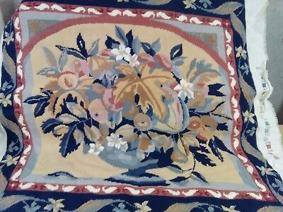 Rare large vintage Ehrman tapestry canvas  Harvest Wallhanging completed