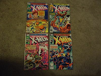 The Uncanny X-Men 123 127 129 133 lot of 4 1st Kitty Pride Shadowcat Wolverive