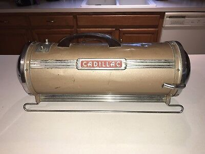 RARE Vintage Cadillac Model 300 Canister Vacuum Cleaner Clements Mfg Co Chicago