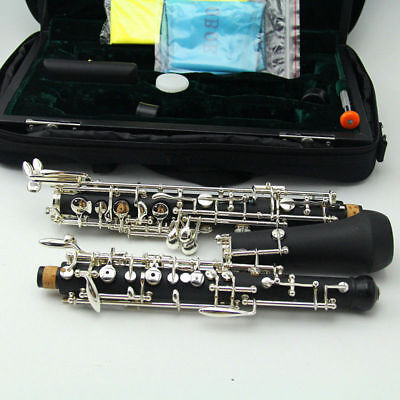 Professional C Key Oboe Semi-automatic Style Silver Plated Keys with Reed case