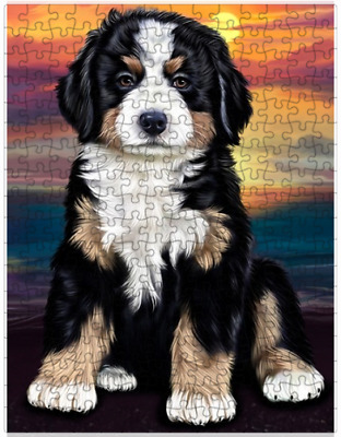 Bernese Mountain Dog Puzzle with  Tin (252 pc.) a412