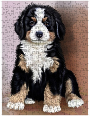 Bernese Mountain Puppy Dog Puzzle with  Tin (252 pc.) a418