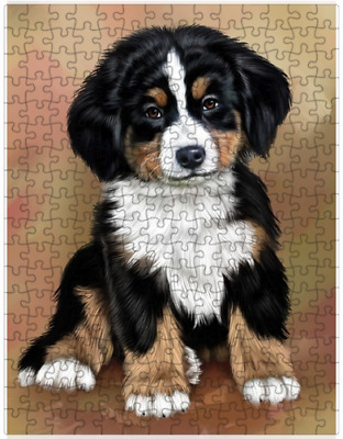 Bernese Mountain Puppy Dog Puzzle with  Tin (252 pc.) a419