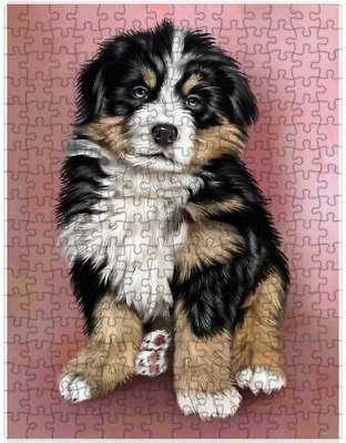 Bernese Mountain Puppy Dog Puzzle with  Tin (252 pc.) a420