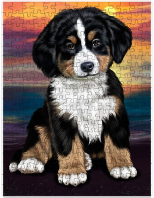 Bernese Mountain Dog Puzzle with  Tin (252 pc.) a417