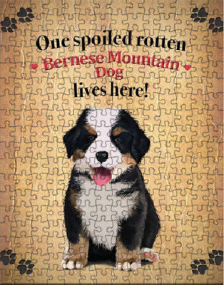Bernese Mountain Dog Spoiled Rotten Dog Puzzle with  Tin (252 pc.) a423