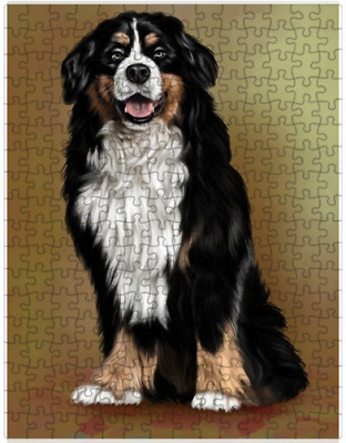 Bernese Mountain Adult Dog Puzzle with  Tin (252 pc.) a408