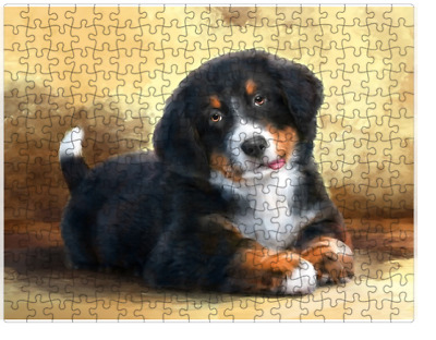 Bernese Mountain Dog Puzzle with  Tin (252 pc.) a409