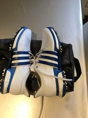 Adidas Tour 360 Boost White Leather Golf Shoes size 10 wide