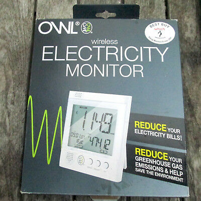 Owl Wireless Electricity Monitor. Boxed, Unused From New.