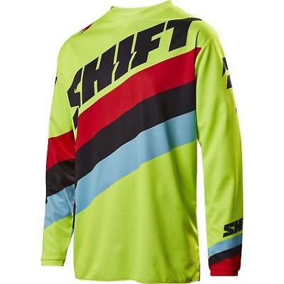 Motorbike Jersey: SHIFT 2017 WHIT3 TARMAC Flo Yellow