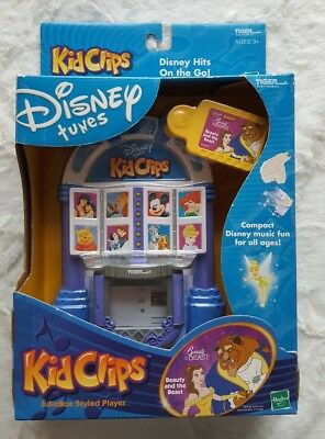 Disney Tunes KIDCLIPS Kid Clips Retro Jukebox Player Beauty The Beast Belle Rare