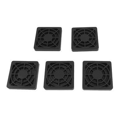 FP 5 Pcs Computer Desktop Dust Proof Plastic Washable 4cm Fan Shield Filter Blac