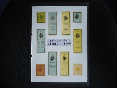 10 Tobacco Tax Stamps 1904