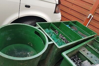 Koi 12,000 Ltr Pond Filter, All Media, All New Fitments & New Decking Lid, VGC