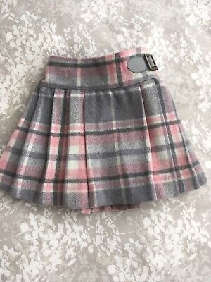 Next Baby Girl Kilt Grey And Pink 12-18m