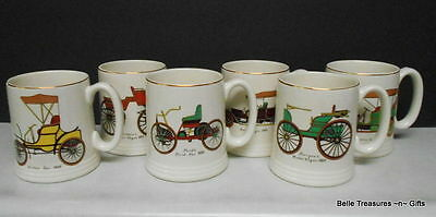 Vintage Ceramic Lord Nelson Automobile Mugs