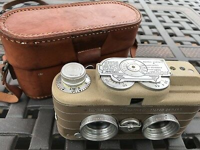 1950's Rare Brown View Master Personal Stereo Camera & Leather Case