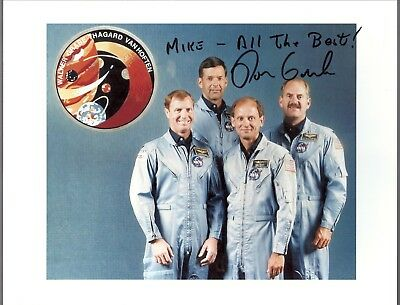 AUTOGRAPH HAND SIGNED  STS-61G Astronaut; Ron Grabe CANCELLED MISSION