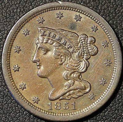 1851 Braided Hair Half Cent -PRICE REDUCED-