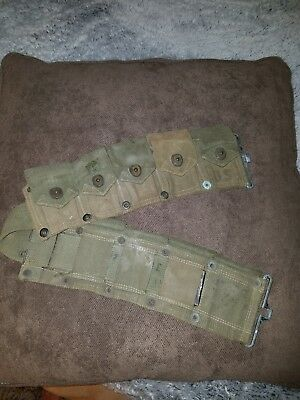 WW2 U.S. Army Rare Military M1 Garand Rifle  AMMUNITION CARTRIDGE BELT