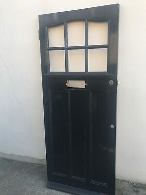 1930's Front Door With Stained Glass