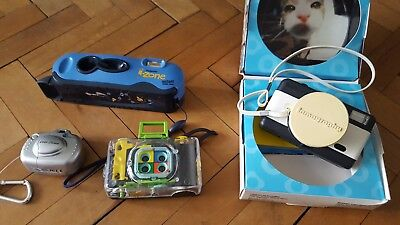 4 novelty cameras inc I-zone, fisheye, cool cam