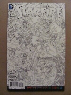 Starfire #8 DC Comics NEW 52 Adult Coloring Book Variant 9.6 Near Mint+