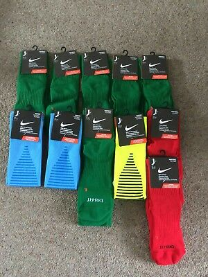 Mixed pack of 11 pairs rugby/football Nike socks, mens