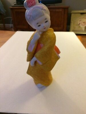 Japanese Hakata Clay Ceramic Doll -Beautiful Lady-