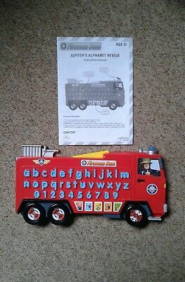 Fireman Sam Jupiter's Alphabet Rescue and Instruction Manual-phonics and numbers