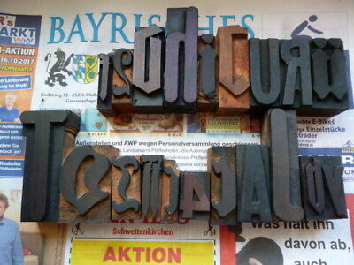 20 Holzbuchstaben Stempel Vintage wood letters antique 100 years