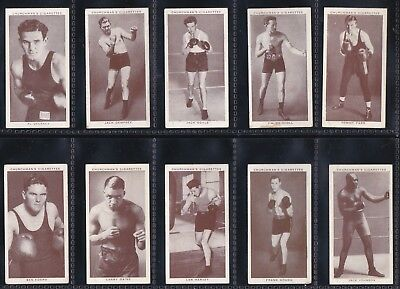 Boxing Personalities - A Complete Original 1938 Tobacco Card Set Joe Lewis