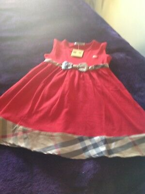 Burberry dress age 2-3 Nice for Christmas  NWT