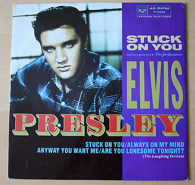 "Ex! Elvis Presley Stuck On You 12"" Vinyl 4 Track Ep (Pt49596)"