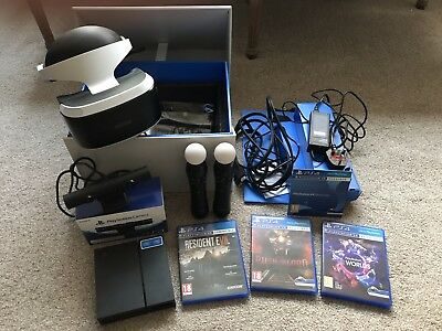Sony Playstation VR Bundle - VR unit + PS4 camera + 2 controllers + 4 VR games