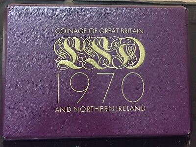 1970 Coinage Of Great Britain and Northern Ireland  (8) Coin Proof Set, NR!