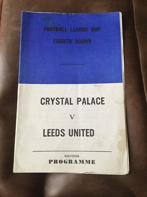 Crystal Palace v Leeds United souvenir league cup 4 programme 1968/69